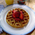 3-grain Waffles With Fresh Strawberries