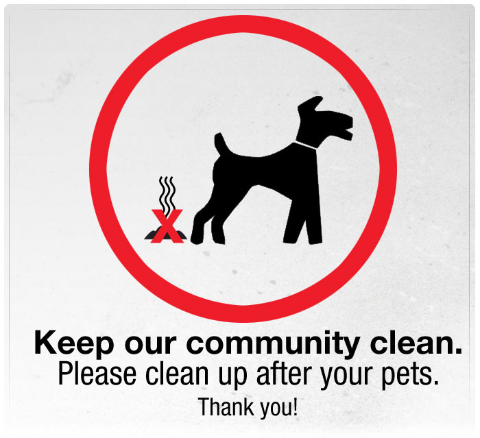 Please Pick up After Your Pets!