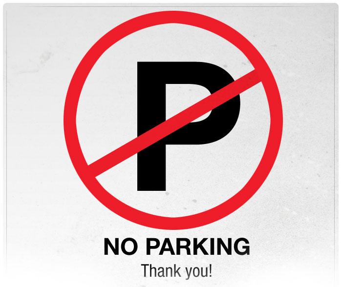 No Parking - Thank You